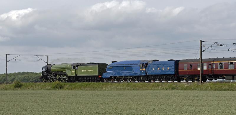 60163 Tornado, 4468 Mallard & 47798 Prince William, 5Z48, East Cowton, Wed 23 June 2010 - 1627 5