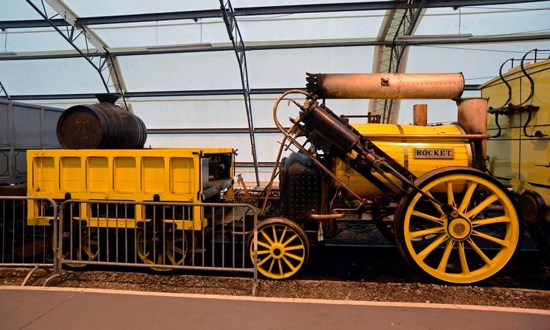 Rocket, National Rly Museum, York, Fri 31 January 2014.  The 1979 replica at rest.