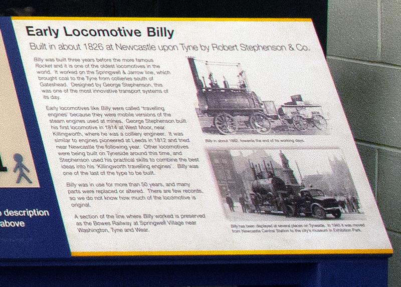 'Billy', Stephenson Railway Museum, North Shields, Sun 24 September 2017 2.