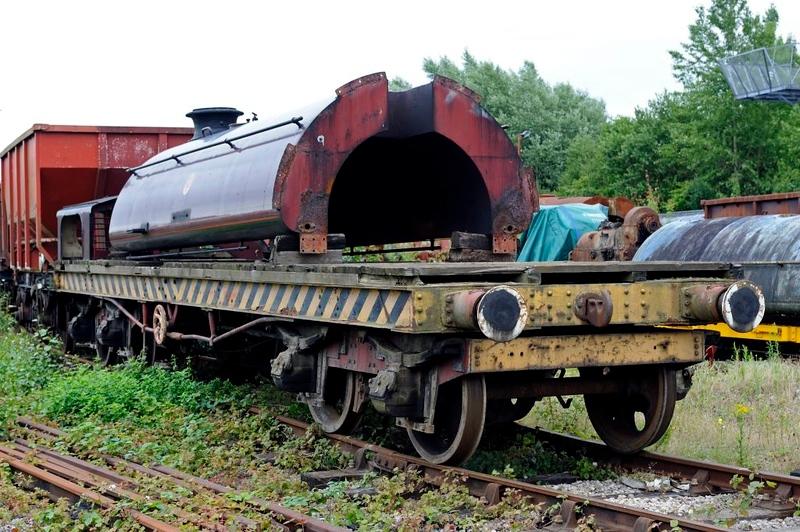 Furness Rly 25 ton bogie bolster 5999, Preston Riversway, 20 July 2011 3.