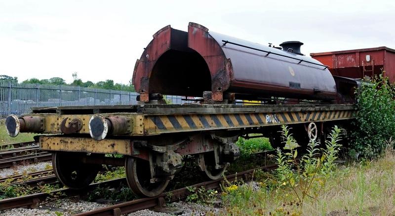 Furness Rly 25 ton bogie bolster 5999, Preston Riversway, 20 July 2011 4.