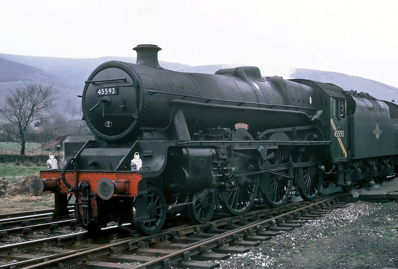 45593 Kolhapur, 1X50, Chinley 22 April 1967 2