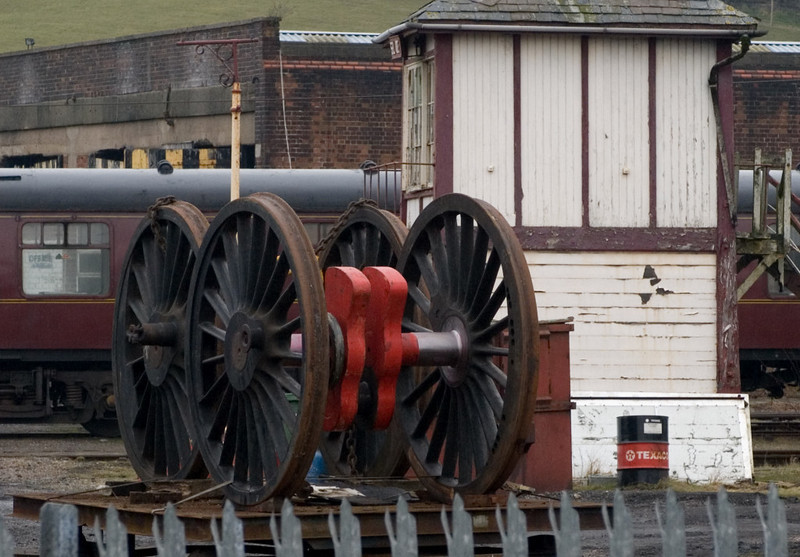 Replacement driving wheels for 45699 Galatea, Carnforth, 9 February 2007
