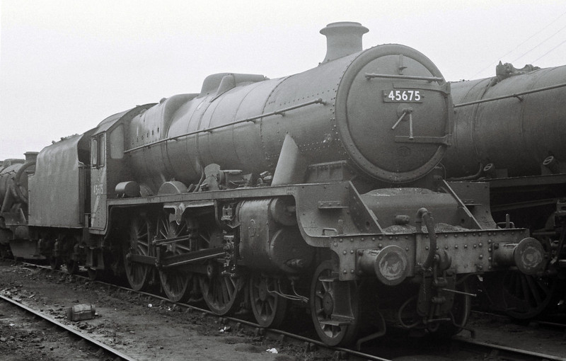 45675 Hardy, Leeds Holbeck shed, June? 1967.