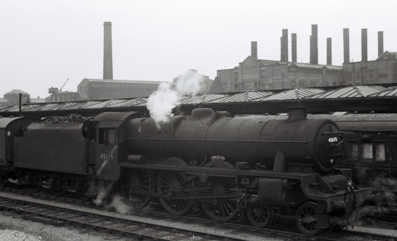 45675 Hardy, Leeds City, May? 1967.  45675 was withdrawn in June 1967.