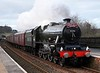 45596 Bahamas, 1Z61, Lazonby, Sat 9 February 2019 1 - 1559.  Bahamas returns to the main line for the first time since 1997.  It is seen returning to Oxenhope with the return leg of a KWVR - Carlisle tour promoted by its owners, the Bahamas Locomotive Society.
