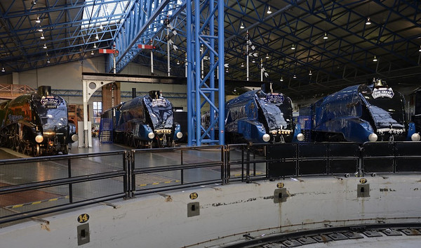 60009 Union of South Africa, 4464 Bittern, 4468 Mallard & 4489 Dominion of Canada, National Railway Museum, York, 5 July 2013