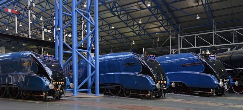 4464 Bittern, 4468 Mallard & 4489 Dominion of Canada, National Railway Museum, York, 5 July 2013 1