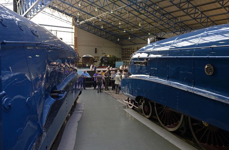 4468 Mallard & 4489 Dominion of Canada, National Railway Museum, York, 5 July 2013 2