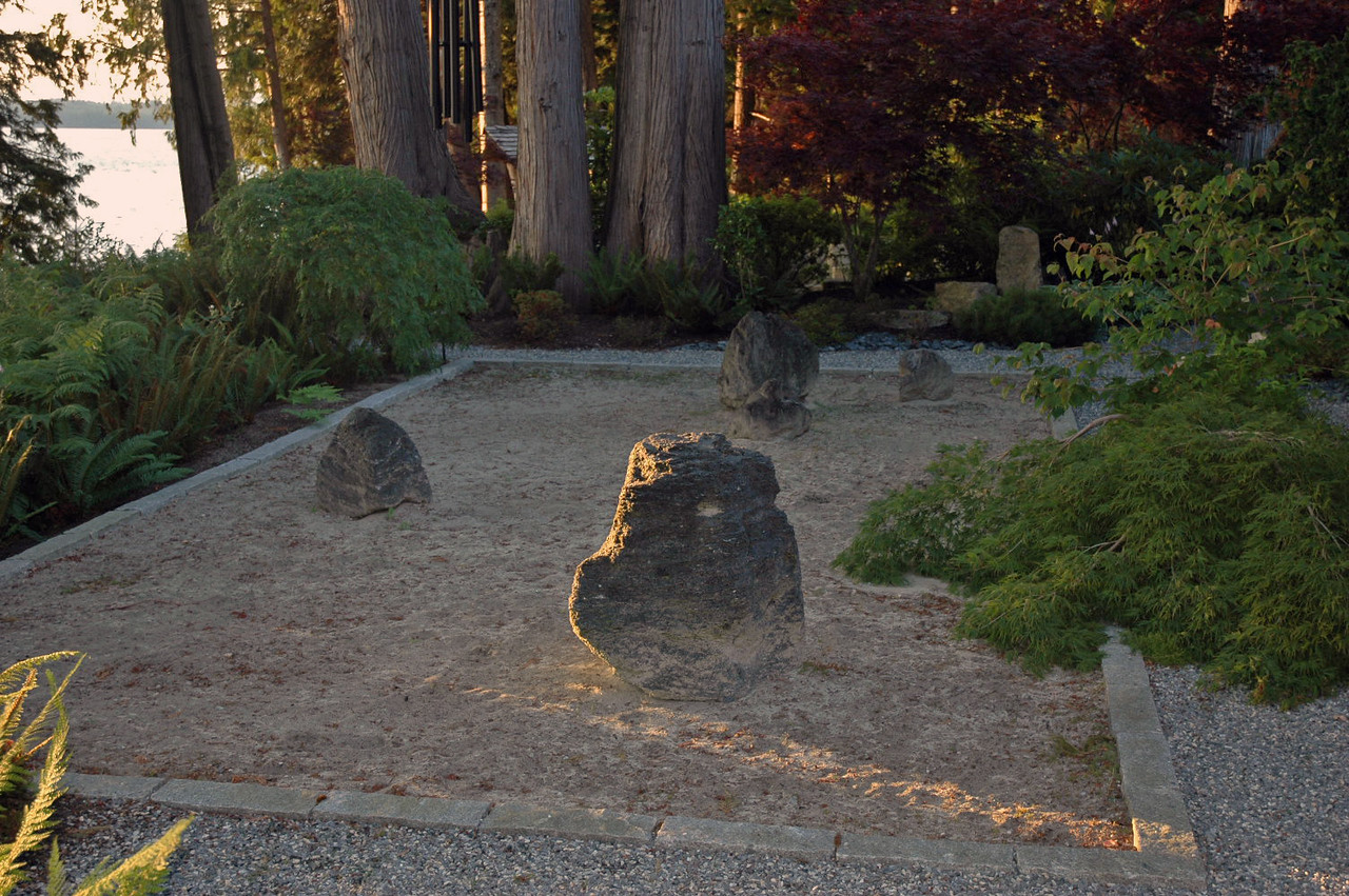 The rock garden at twilight.