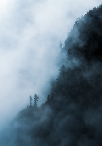 Clouds and the Cliffs. Mount Seymour BC