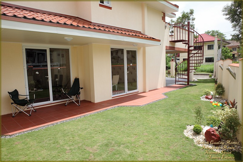 Landscaped Garden with Coloured LED External Ground Lights, Clay Patio and Glazed Doors to Kitchen & Dining Room
