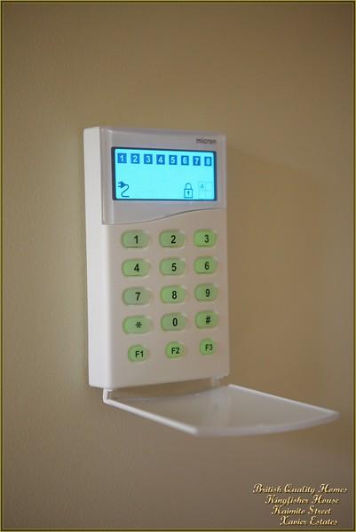 Security Alarm Keypad - Sensors in 8 Rooms
