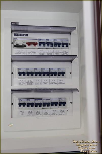 UK Style Consumer Unit with Generator Switch