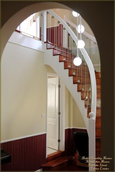 Helical Main Stair in Sunken Lounge
