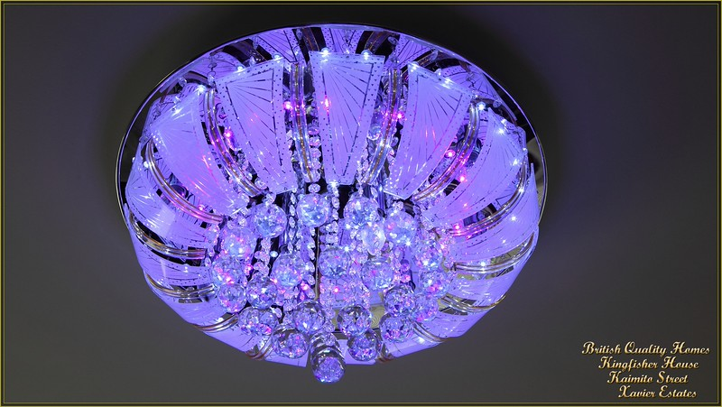 Triple Setting LED Crystal Chandalier