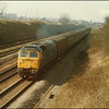 Class 47/4, 47626, passes through South Moreton on the 'up releif' with 1O15 (0900 Manchester Piccadilly-Poole service) - 26 February 1986.