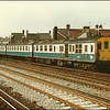 DEMU 1031 arrives at Tonbridge with the 1345 London (Charing Cross)-Hastings service - 20 March 1986.