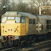Class 31 (31116) stabled in sidings at Bletchley - 7 February 1987.
