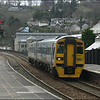 Wessex Trains Class 158 (158855) arrives at Lostwithiel with the 1319 Penzance-Paignton service - 28 March 2006.