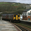 Wessex Trains Class 150/2 (150251), passing over the level crossing as it arrivs at Lostwithiel with the 1301 Exeter St. Davids-Penzance service - 28 March 2006.