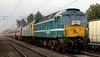 47714 & 47828 Joe Strummer, 1Z47, Carnforth, 23 July 2005 - 0948.  A Heartland Rail tour from Wolverhampton to Edinburgh.