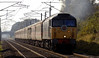 47703 Hermes, 1Z32, Carnforth, 14 October 2006 - 1246.  NENTA's Settle & Carlisle Circular from Norwich.  47709 was on the rear.  In 2013 47703 was part of the Harry Needle fleet at Burton.