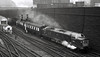 DP2, Bradford Exchange, 18 February 1967 - 1750    DP2 sets off for King's Cross with the White Rose Pullman.  This visit to Bradford was very rare, possibly unique.