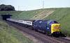 55001 St Paddy, Stoke tunnel, 28 May 1977.  1048 Newcastle - King's Cross.  Photo by Les Tindall.