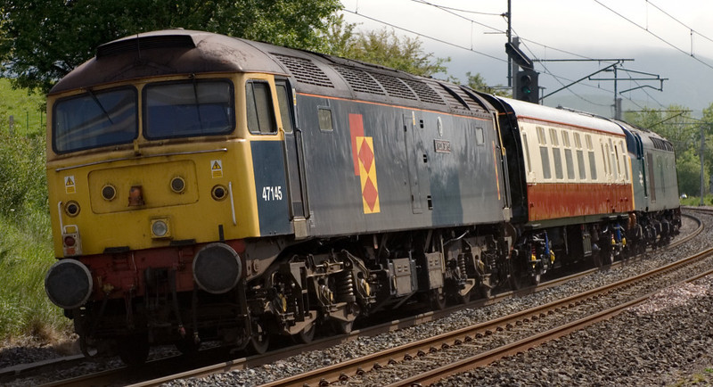 40145 & 47145 Myrddin Emrys, 5Z45, Grayrigg, 7 June 2007 - 1023 3.  47145 subsequently went to Harry Needle, and was scrapped in 2009.