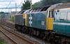 47848 Titan Star & 47847, 5Z65, Hest Bank, 15 June 2007 - 1840 2   ...but the double yellow shows that Carnforth loops beckon.