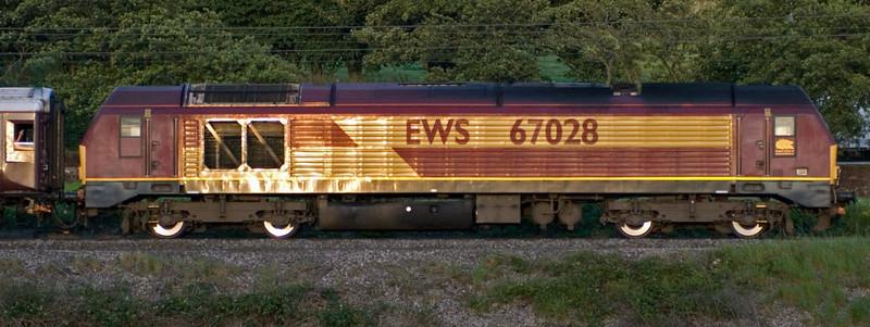 67021 & 67028, 1Z68, Carnforth, 6 July 2007 - 2111 2