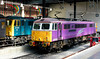 87001 Stephenson & 87002 The AC Locomotive Group, Euston, 13 May