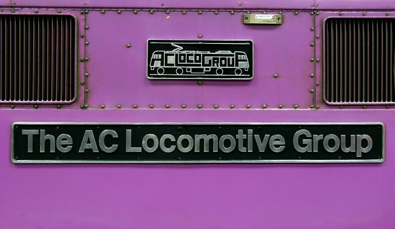 87002 The AC Locomotive Group, Euston, Fri 13 May 2005 - 1432 2.  A closer look at the nameplate and crest.