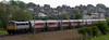 87002, Hest Bank, 9 May 2004 - 1535.  The Porterbrook-liveried 87 shoves the Sunday 1301 Glasgow - Euston