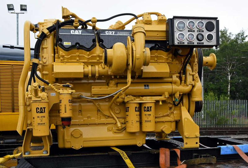 Caterpillar C27 engine, DRS open day, Kingmoor, Carlisle, Sat 22 July 2017.  950hp / 710kW, as used in the 88s.