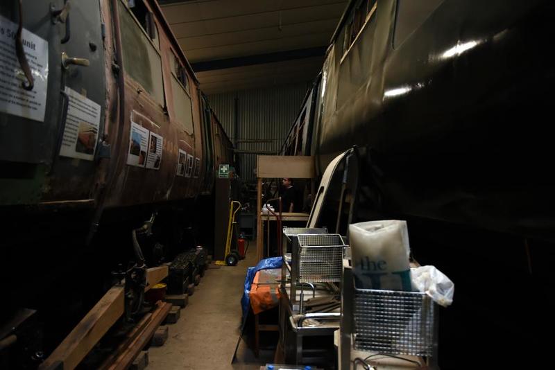 Class 502 28361 (left) & 29896, Burscough, 7 July 2019 1.