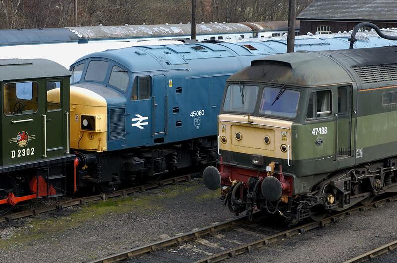 D2302, 45060 & 47488, Barrow Hill, 11 March 2006