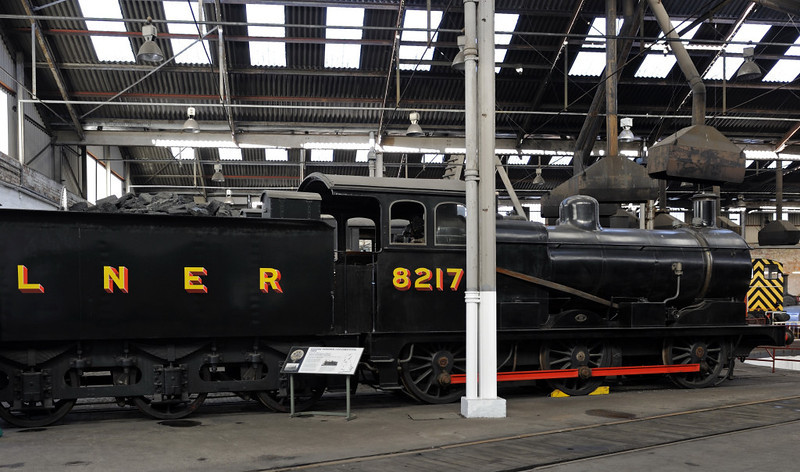 LNER No 8217, Barrow Hill, Sun 14 October 2012 2.  Great Eastern Rly 0-6-0 designed by Holden and built at Stratford (London) in 1905 (LNER class J17).