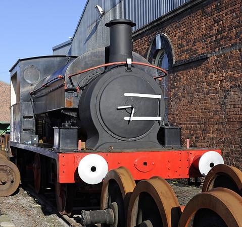 [The Welshman], Barrow Hill, Sun 14 October 2012.  Manning Wardle 0-6-0ST 1207 / 1890.
