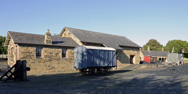 Rowley station, Beamish, Mon 8 October 2012 3.  ...and this goods shed came from Alnwick.