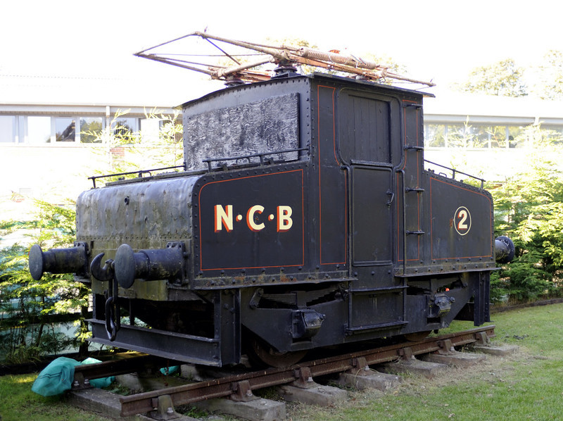 NCB (National Coal Board) No 2, Beamish, Mon 8 October 2012.  Siemens 455 / 1908.  One of the locos built for the extensive 5550V dc lines of Harton and other collieries in South Shields.  Three other Harton electrics survive.