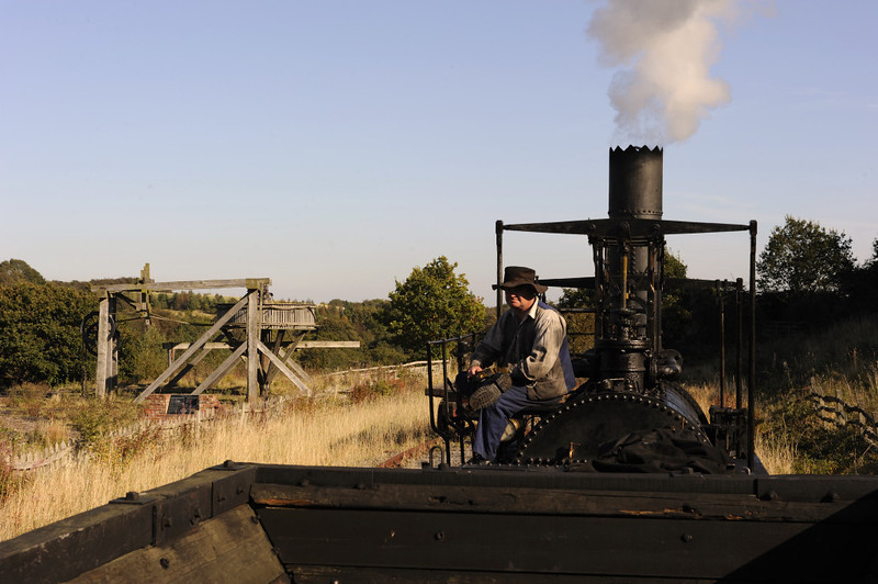 Replica Locomotion No 1, Pockerley Waggonway, Beamish, Mon 8 October 2012 4.  The waggonway is about 250 yards long.
