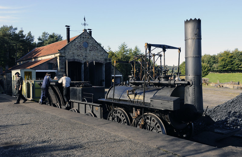 Replica Locomotion No 1, Pockerley Waggonway, Beamish, Mon 8 October 2012 5.