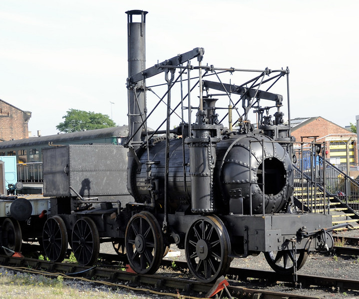 Replica Puffing Billy, National Railway Museum, York, Sat 8 September 2012.  The fourth loco normally resident on the Pockerley Waggonway, this replica was built in 2006 at Beamish but is seen during a visit to York.
