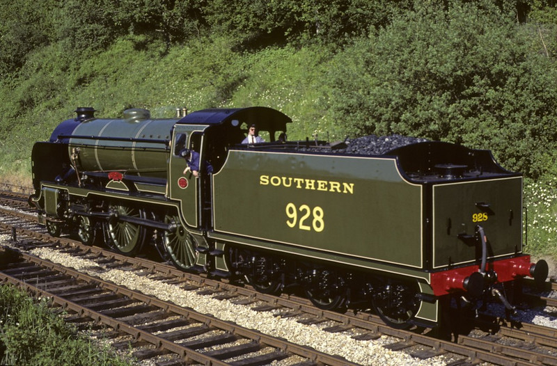 Southern Rly 928 (30928) Stowe, Horsted Keynes, June 1981 1.  Photo by Les Tindall.