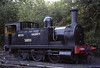 58850, Sheffield Park, 1989.  North London Rly 0-6-0T No 75, built at Bow in 1881.  Still on the Bluebell in 2014.