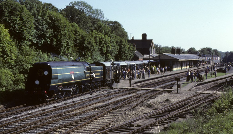 21C123 (34023) Blackmoor Vale, Horsted Keynes, June 1981 1.  Photo by Les Tindall.
