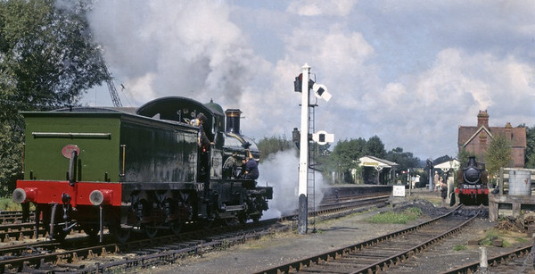 3217 Earl of Berkeley, Sheffield Park, 11 September 1972 2.  Still on the Bluebell in 2014.  Photo by Les Tindall.