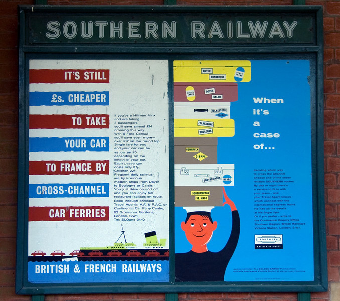 Kingscote Station, 16 September 2007 1.   Do you remember railway posters like these?